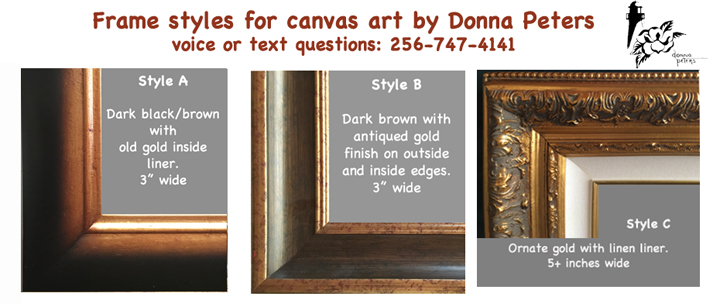 Canvas frame styles