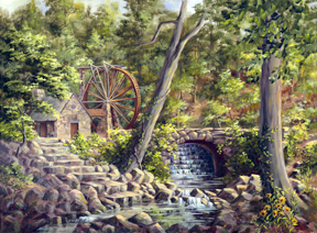 The Old Mill by Donna Peters