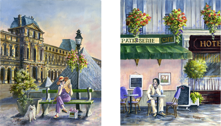 Afternoon and Morning in Paris by Donna Peters
