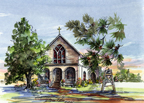 Sacred Heart church , Fairhope, AL by Donna Peters