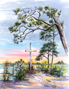 Beach Faith, Hand painted LandMark by Donna Peters