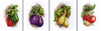 Four Veggies by Donna Peters