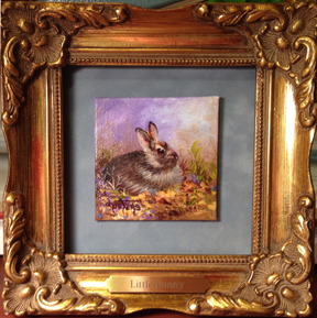 Little Bunny painting by Donna Peters
