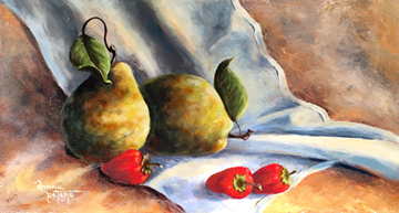 Pears & Peppers by Donna Peters, artist